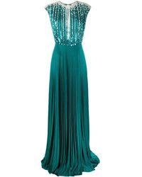 Elisabetta Franchi スパンコール ドレス - ブルー