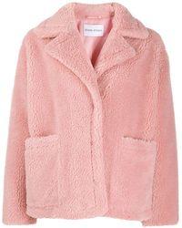 Stand Studio Куртка Из Искусственного Меха - Розовый