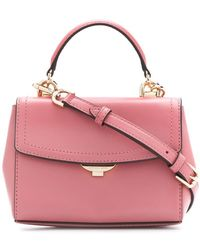 8690ce2e3fdf Lyst - MICHAEL Michael Kors Ava Small Saffiano Leather Satchel in Pink