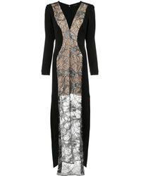 Tufi Duek Lace panels gown - Noir