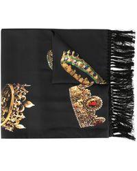 Dolce & Gabbana Sciarpa con stampa - Nero