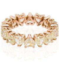 SHAY Кольцо Из Розового Золота С Бриллиантами - Металлик