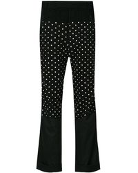 Haider Ackermann Polka Dot Trousers - Black