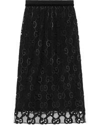 Gucci GG Macramé Skirt - ブラック