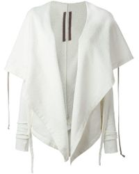 Rick Owens Drkshdw 'lace' Cardi-coat - White