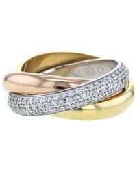 Cartier - プレオウンド トリニティ ダイヤモンド リング 18kゴールド - Lyst
