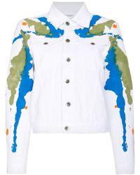 Mirco Gaspari - White Paint Splattered Denim Jacket - Lyst
