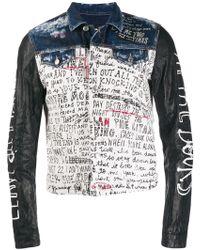 0148cc652 Gucci. Baseball Stamp Print Bomber Jacket. $3,375. Flannels. DSquared² -  Letter Stamp Denim Jacket - Lyst
