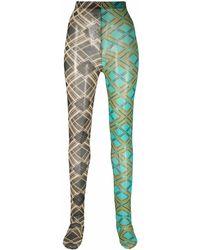 Chopova Lowena Legging colour block à motif géométrique - Vert