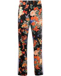 Palm Angels Trainingsbroek Met Bloemenprint - Zwart