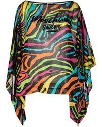 Moschino Swim Zebra-pattern Beach Cover-up - Black