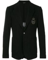 Dolce & Gabbana - Textured Bee Embroidered Blazer - Lyst