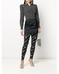 Versace Легинсы С Логотипом - Черный