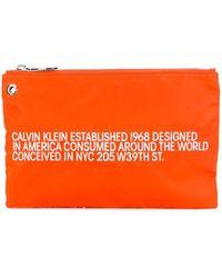 CALVIN KLEIN 205W39NYC Brand Est. Clutch - Orange