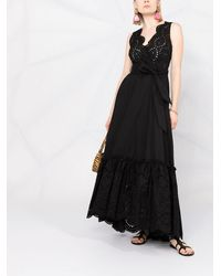P.A.R.O.S.H. Vネック ドレス - ブラック