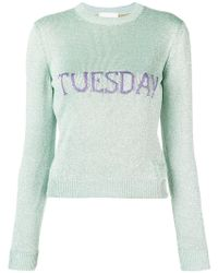 Alberta Ferretti - Tuesday Intarsia Sweater - Lyst