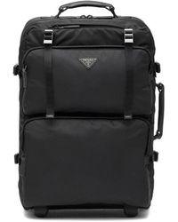 Prada ロゴ スーツケース - ブラック