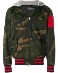 Hydrogen - Camouflage Hooded Bomber Jacket - Lyst