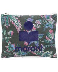 Étoile Isabel Marant Floral-print Clutch Bag - Green
