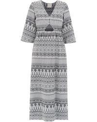 Framed パターン ドレス - メタリック