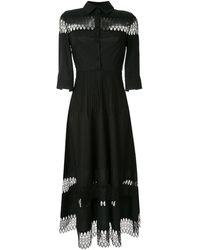Huishan Zhang Robe-chemise Emma - Noir