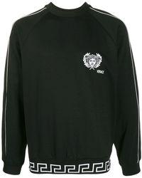 Versace Sweater Met Geborduurd Logo - Zwart