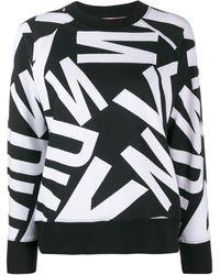 DKNY プリント スウェットシャツ - ブラック