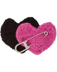 Prada Safety Pin Heart - Pink