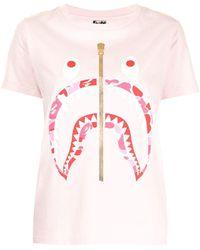 A Bathing Ape シャーク Tシャツ - ピンク