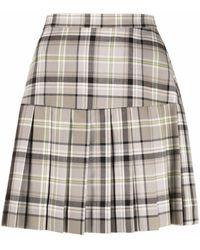 Vivienne Westwood チェック スカート - グレー