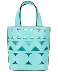 Casadei Perforated Bucket Bag - Blue