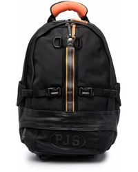 Parajumpers Rounded Logo-print Backpack - Black