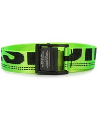 DIESEL Logo Tape Belt - Green