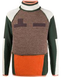 Sacai カラーブロック セーター - グリーン