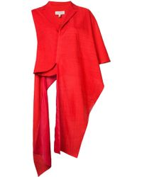Delpozo Shawl Jacket - Red