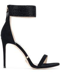 Gianni Renzi - Beaded Ankle Strap Sandals - Lyst