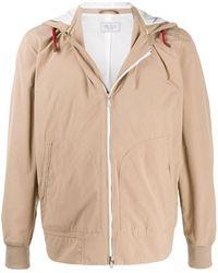 Brunello Cucinelli Куртка На Молнии С Капюшоном - Естественный
