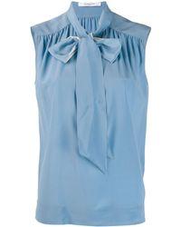 Givenchy Blouse à col noué - Bleu