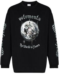 Vetements X The World Motorhead スウェットシャツ - ブラック