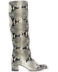 Paris Texas - Snakeskin-effect Boots - Lyst