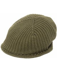Altea リブ ベレー帽 - グリーン