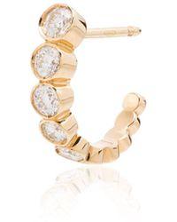 Sophie Bille Brahe - 18kt Yellow Gold Boucle Diamond Single Earring - Lyst