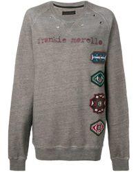Frankie Morello - Oversized Logo Patch Sweatshirt - Lyst