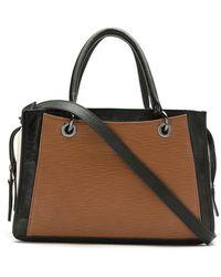 Mara Mac Leather Paneled Bag - Multicolor