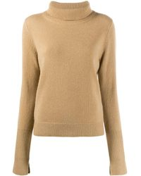JOSEPH Roll Neck Sweater - Brown