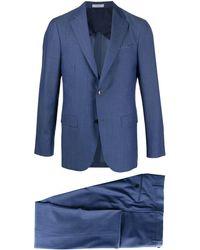 Boglioli 'B-Line' Anzug mit Fischgrätmuster - Blau