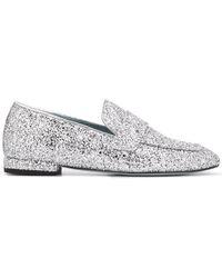 Chiara Ferragni - Glitter Slip-on Loafers - Lyst