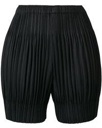 Pleats Please Issey Miyake - Elasticated Waist Shorts - Lyst