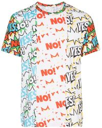 Comme des Garçons Yes No プリント Tシャツ - ホワイト