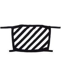 Off-White c/o Virgil Abloh Diagonal Stripe Face Mask - Black